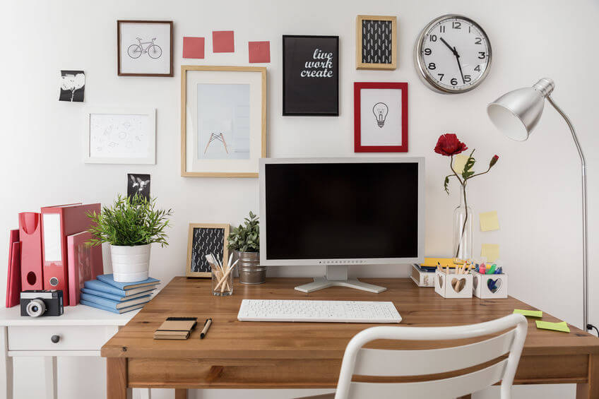 Designate workspace at home productive Tips to stay productive while working from home work from home office