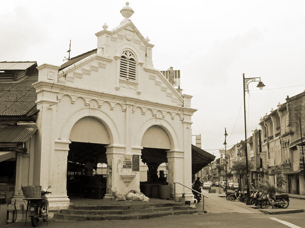 Old colonial facade of Campbell Street Market architecture Beautiful Architecture Buildings in Penang 8180903140 8f13b05f0f b