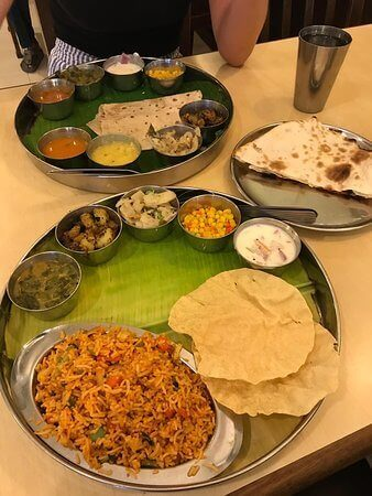 Woodlands Vegetarian Thali vegetarian Best Vegetarian Restaurants in Penang Woodlands